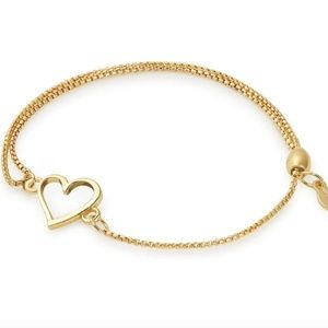 Alex and Ani Gold Heart Bracelet